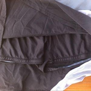 Athleta Shorts - Athleta Skort Gray Sheer Ruffle Stretch Skirt L